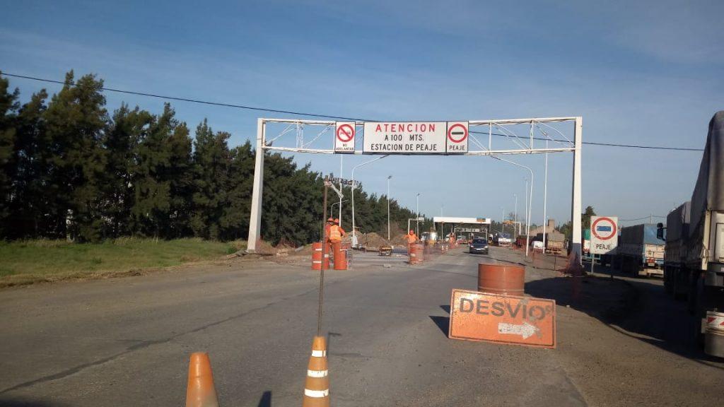 "Obras acceso norte autopista San Lorenzo. ""Se trata de gestionar para lograr un entorno más seguro"" aseguró Traferri."