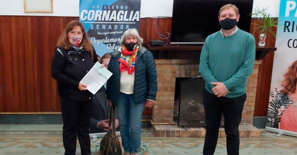 El Senador Cornaglia entregó subsidios institucionales en Las Rosas