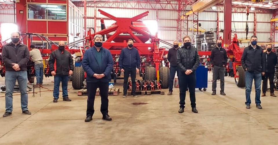 Cornaglia recibió al secretario de industria de Santa Fe