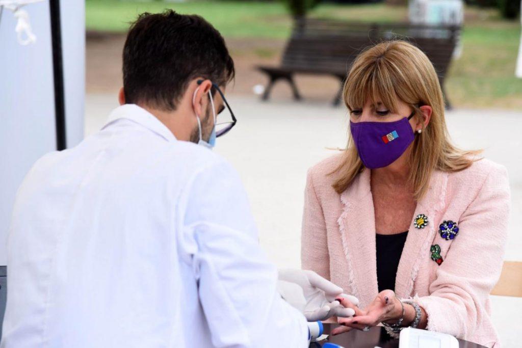 Rodenas participó del acto del día del donante voluntario de sangre.