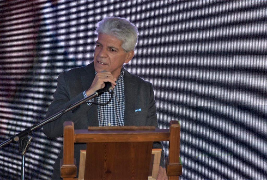 Baucero acompañó al Club Huracán en las actividades del centenario.